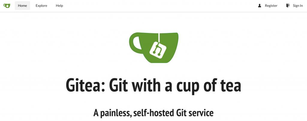 Gitea on Raspberry Pi Home Page