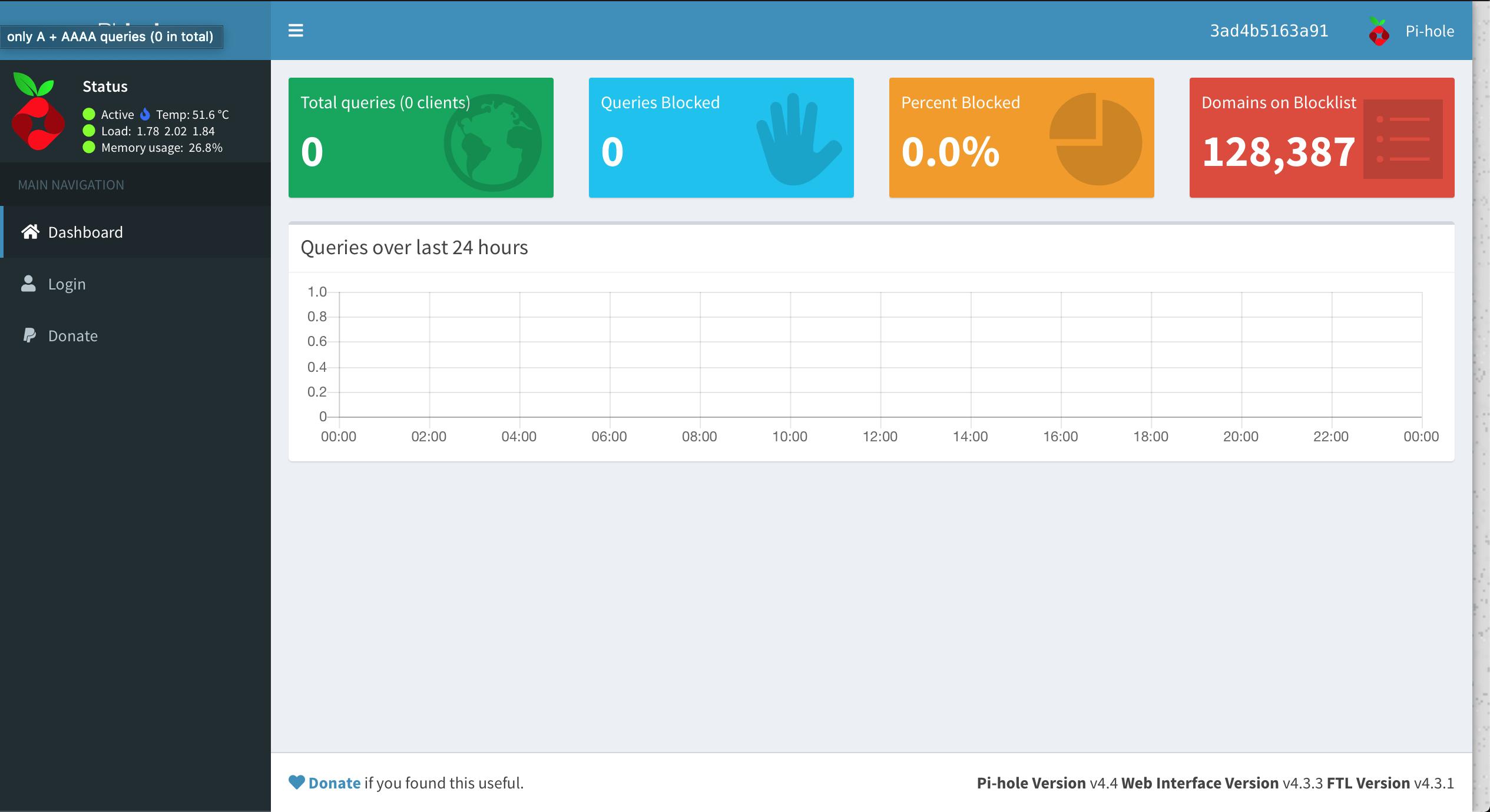 Pi-Hole Admin Dashboard